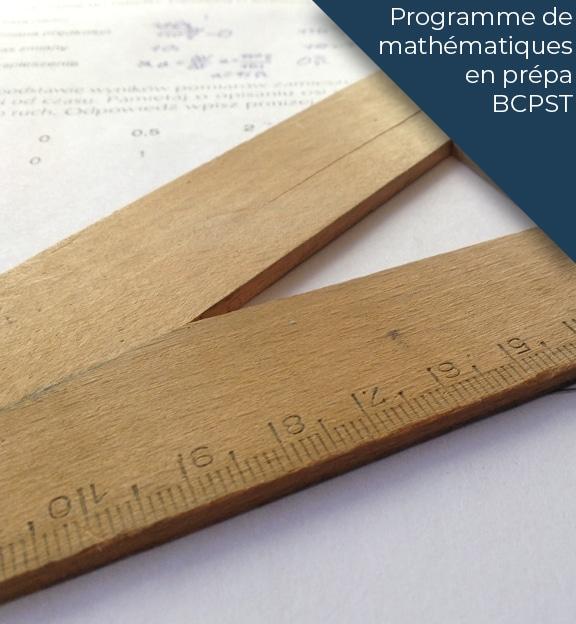 programme maths prepa bscpt
