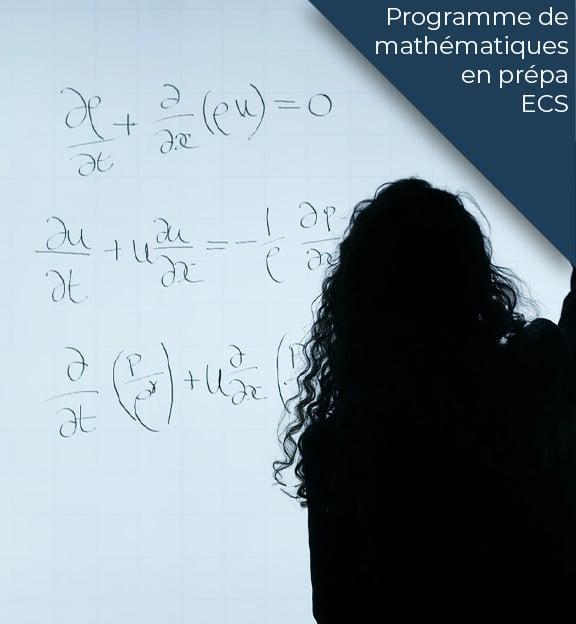 programme maths prepa ecs